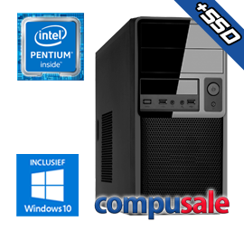 Intel Pentium G5400 / 8GB / 240GB SSD / WINDOWS 10 [Desktop PC samenstellen]