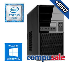Intel Core i3 8100 / 8GB / 480GB SSD / WINDOWS 10 [Desktop PC samenstellen]