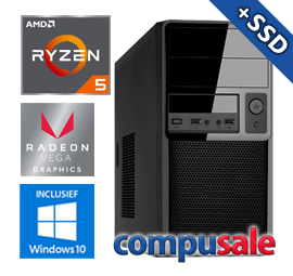 AMD Ryzen 5 3400G / 16GB / 480GB SSD / RX Vega 11 / WINDOWS 10 [Desktop PC samenstellen]