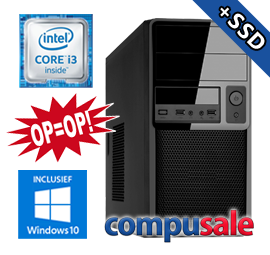 Intel Core i3 8100 / 8GB / 1240GB SSD+HDD / WINDOWS 10 [OP=OP! Desktop PC]