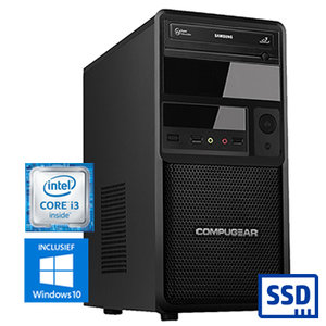COMPUGEAR SSD Only SC8100-8R480S (met Core i3 8100, 8GB RAM en 480GB SSD)