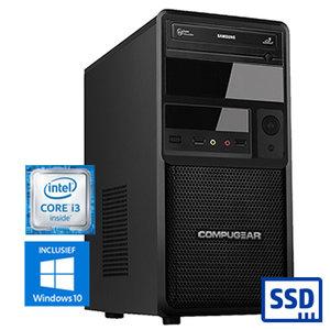 COMPUGEAR SSD Only SC8100-8R240S (met Core i3 8100, 8GB RAM en 240GB SSD)