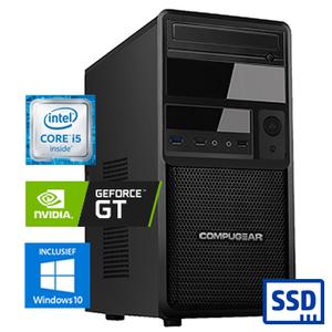COMPUGEAR Deluxe DC5F-16R250M1H-G30 (met Core i5, 16GB RAM, 250GB M.2 SSD, 1TB HDD en GT 1030)