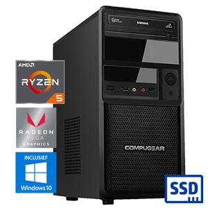 COMPUGEAR SSD Only SR3400G-8R480S (met Ryzen 5 3400G, 8GB RAM en 480GB SSD)