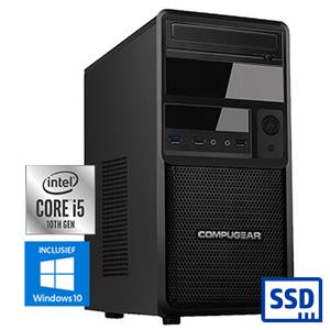 COMPUGEAR Premium PC5-16R250M1H (met Core i5 10400, 16GB RAM, 250GB M.2 SSD en 1TB HDD)