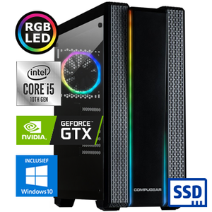 COMPUGEAR Gamer GC5F-16SH-G1650 (met Core i5 10400F, 16GB RAM, 240GB SSD, 1TB HDD en GTX 1650)
