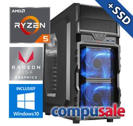 AMD Ryzen 5 3400G / 8GB / 480GB SSD / WINDOWS 10 [Budget Game PC]
