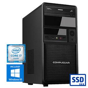 COMPUGEAR Premium PC8700-16SH (met Core i7 9700, 16GB RAM, 240GB SSD en 1TB HDD)