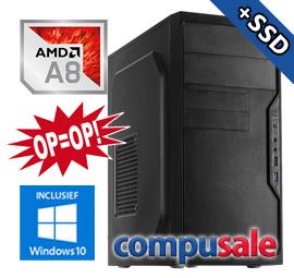 AMD A8 6600K / 8GB / 480GB SSD / WINDOWS 10 [OP=OP! Desktop PC]