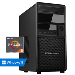 COMPUGEAR Premium PR5G-8R240S1H (met Ryzen 5 3400G, 8GB RAM, 240GB SSD en 1TB HDD)