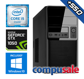 Intel Core i5 9400F / 16GB / 240GB SSD + 1TB / GTX 1050 2GB / WINDOWS 10 [Desktop PC samenstellen]