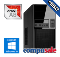 AMD A8 9600 / 8GB / 480GB SSD / WINDOWS 10 [Desktop PC samenstellen]