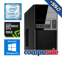 Intel Core i7 8700 / 16GB / 240GB SSD + 1TB / GTX 1050 2GB / WINDOWS 10 [Desktop PC samenstellen]